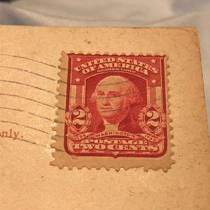Light cheek stamp Washington 1800s